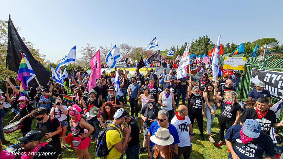 העם מעוניין בשינוי. ההפגנה בזמן השבעת הכנסת ה-24(צילום: בן כהן)
