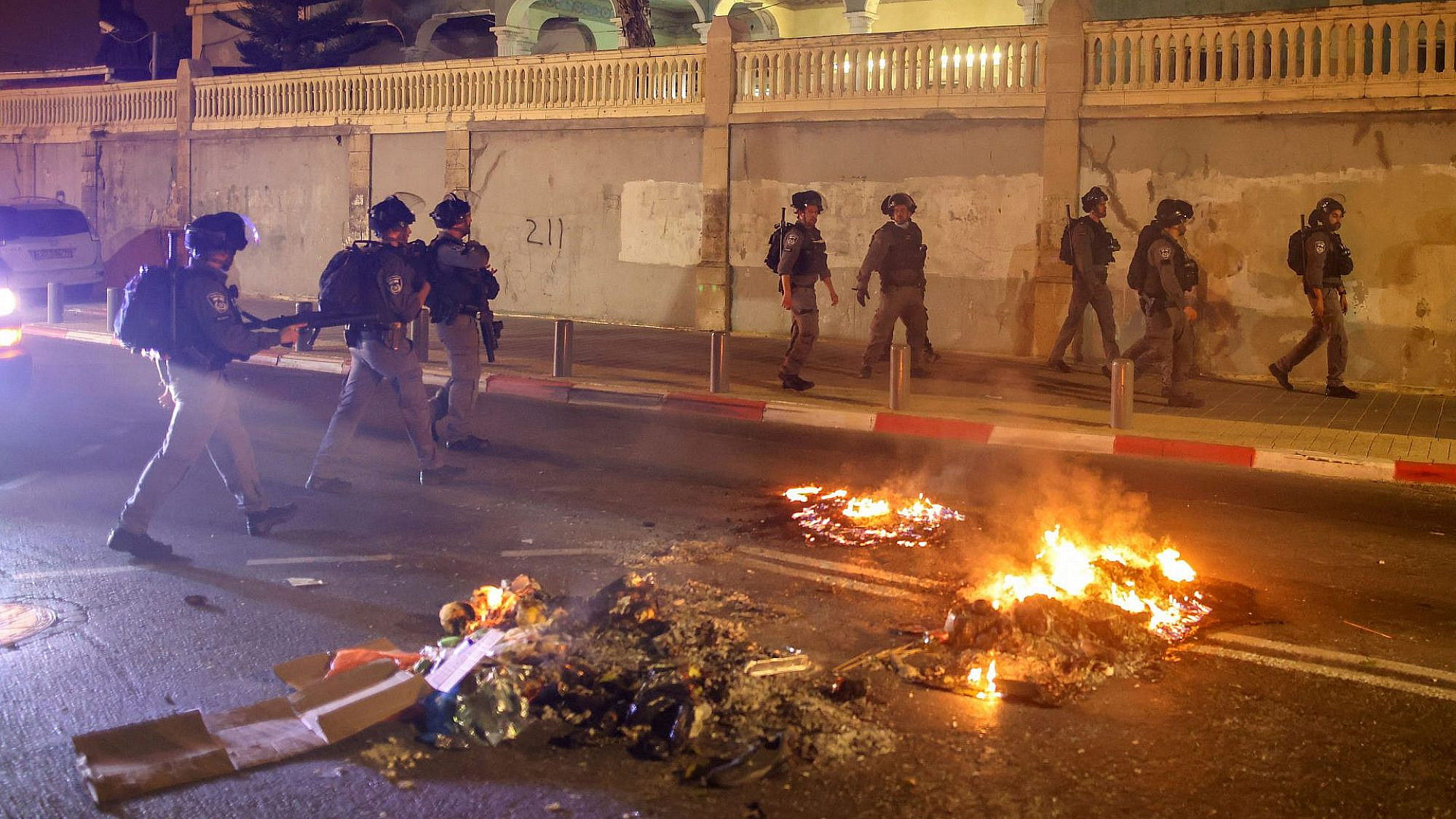 העימותים ביפו. צילום: אחמד ג'רבלי\AFP\גטי אימג'ס