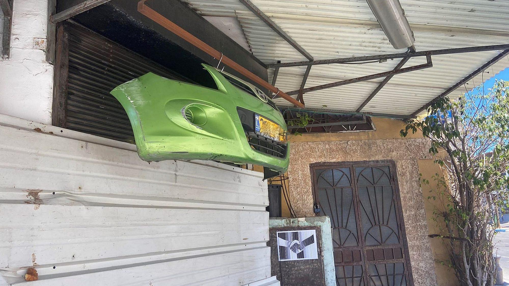 פגוש המכונית ביפו. צילום: נועה בונה