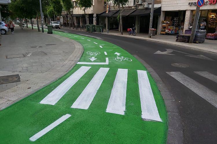 שביל האופניים הירוק במרמורק. צילום: עיריית תל אביב-יפו