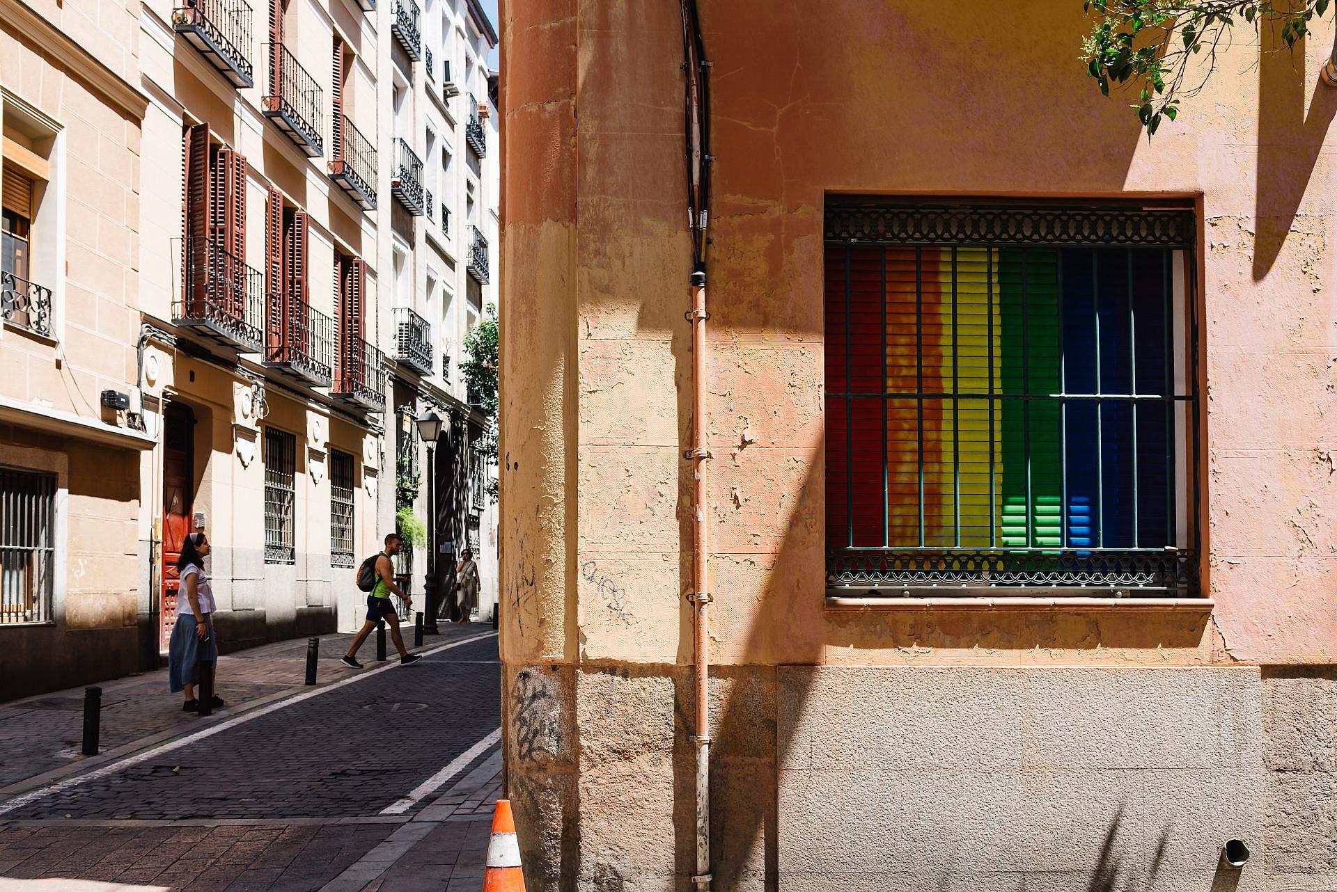 """ג'נטריפיקציה להט""""בית בשכונת מלאסאנה הרב-תרבותית במדריד (צילום: שאטרסטוק)"""