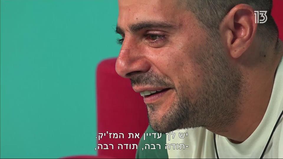 """יותר מחטף בלילה מליטרלי מחטף בלילה. ג'קי עוזב את """"האח הגדול"""" (צילום מסך: רשת 13)"""