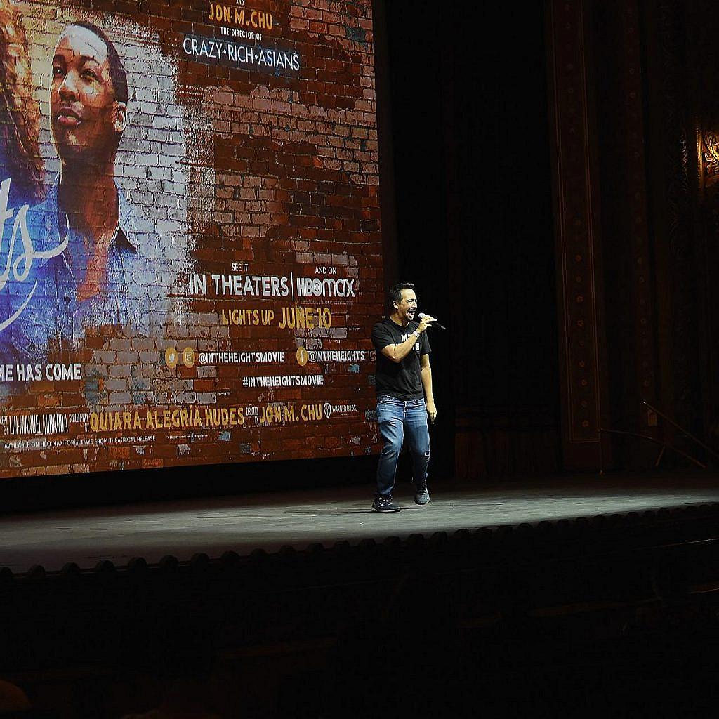 לין מנואל מירנדה מציג את הסרט, ביוני בניו יורק. צילום: Gary Gershoff/Getty Images