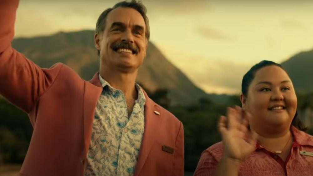 הומור גרהאם-גריני מרושע. מורי בארטלט (משמאל), ״הלוטוס הלבן״ (צילום: HBO)