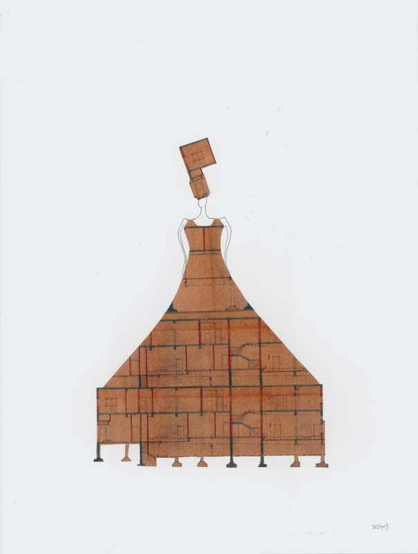 """""""גברת אדריכלית"""" של נלי אגסי, פרט מתוך """"המשוטטת"""""""